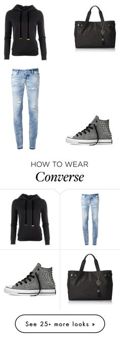 """""""<3"""" by martina-vacca on Polyvore featuring Gucci, Armani Jeans, Converse and Dsquared2"""