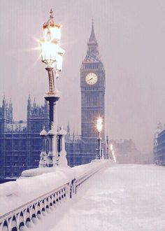 #London in the snow.