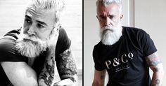 Alessandro Manfredini Is Italy's Tattooed Silver Fox