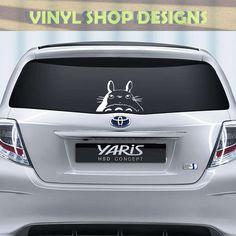 Totoro vinyl decal for car window. $10.99, via Etsy.