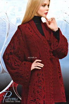Irish lace, crochet, crochet patterns, clothing and decorations for the house, crocheted. Crochet Jacket, Crochet Cardigan, Love Crochet, Knit Or Crochet, Irish Crochet, Crochet Shawl, Crochet Sweaters, Crochet Motifs, Crochet Patterns