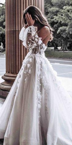 Top Wedding Dresses, Cute Wedding Dress, Wedding Dress Trends, Bridal Dresses, Tattoo Wedding Dress, Modest Wedding, Backless Wedding, Cinderella Wedding Dresses, Princess Wedding Gowns