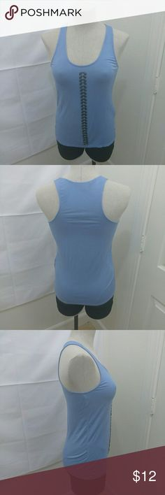 Armani Exchange sleeveless Soft and Flowy Tank Top Armani Exchange Sleeveless U-Neck Beaded Front Tank Top...Baby Powder Blue...Excellent condition. Armani Exchange Tops Tank Tops