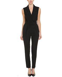 LK Bennett Cannes Black Tuxedo Jumpsuit
