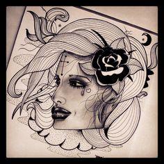 #cross #draw #drawing #heart #love #models #drawings #flash #flashart #flowers #tattoos #art #ink #inked #tattooflash #rose #roses #halfmoon #moon