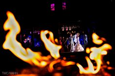 Photo by Two Mann Studios.  Looking into The Pavillion at Silvertip Resort from the patio, and across the fire table. Amazing!