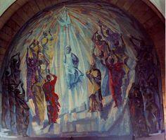 La venida del Espíritu Santo - Alfonso Ramil (1955-57) Parroquia de Nuestra Señora de las Mercedes (Las Arenas)