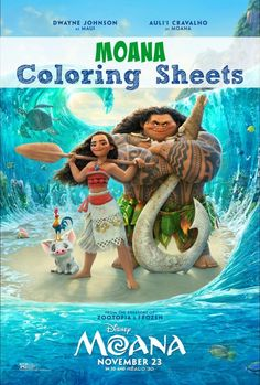Download these free Moana Coloring Sheets. Moana opens in theaters everywhere on November 23. #Moana