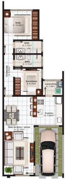 Formas para construir una casa en un terreno de 6x17