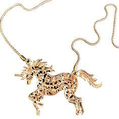 "Amazon.com: Unicorn Horse Pendant Necklace Rainbow Jewelry Charm Gift 22"": Jewelry Charm Jewelry, Pendant Jewelry, Pendant Necklace, Horseshoe Jewelry, Unicorn Horse, Unicorn Necklace, Gold Necklace, Pendants, Rainbow"