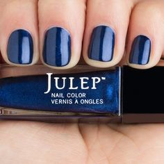 Lacey - Midnight Blue With Purple Shimmer Nail Polish