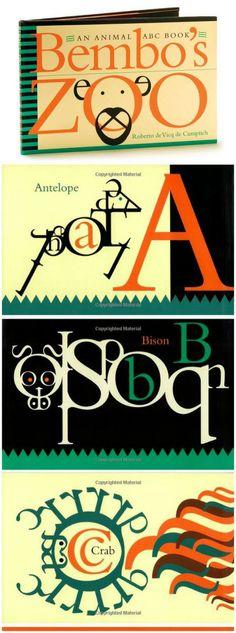 Bold typeface designed ABC book: Bembo's Zoo.