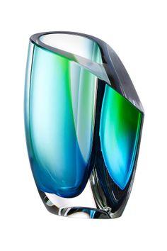 Kosta Boda Mirage Blue/Green Small Vase