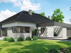 DOM.PL™ - Projekt domu CPT HomeKONCEPT-68 CE - DOM CP1-82 - gotowy koszt budowy Home Projects, House Plans, Shed, Exterior, Outdoor Structures, How To Plan, Outdoor Decor, Design, Home Decor