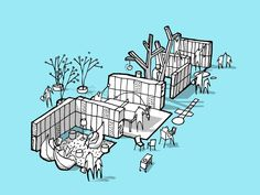 Mesterfjellet School / Cebra, Various Architects, and Østengen & Bergo,Cebra sketch 04-garderobe : © Cebra / Various Architects / Østengen & Bergo