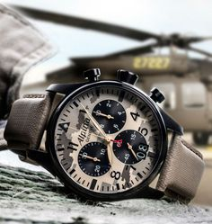 Fort de son expérience de fournisseur officiel de montres militaires et d'aviateurs, Alpina revient avec un nouveau modèle de sa célèbre Startimer Pilot Chronograph Grande Date. Résolument virile, elle saura ravir la gente masculine.