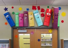 So glad to see that my library is going viral! Happy books above the entrance door announce the Emerson (New Jersey) Library children's room