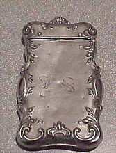 Antique Match Safe Holder Vesta - German Silver