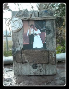 Wooden Block Picture Frame For Your Wedding by MyMontanaHomestead, $15.00