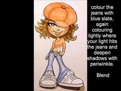 """How I colour the Kenny K """"All That"""" digi  stamp and the finished card.    This is a photo tutorial.     Music is Manifold de Amour by Latin Playboys    p.s. I'm not an expert - this is purely how  I colour!    Lisa"""