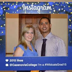 Graduates Jackie Torbitt and Alvaro Llanes. Congrats to both of you! #WildcatsGrad15 #CazenoviaCollege