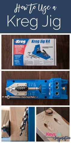 Jan 2020 - Ever wondered what the deal is with the Kreg Jig? Learn exactly how to use a Kreg Jig and why you need it in your toolbox! Easy Woodworking Projects, Popular Woodworking, Diy Wood Projects, Woodworking Tools, Woodworking Furniture, Woodworking Jigsaw, Youtube Woodworking, Woodworking Patterns, Woodworking Techniques