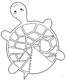 Turtle craft template (site is in Turkish language but it has some great coloring/craft images):