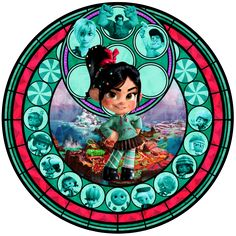 Wreck it Ralph stained glass
