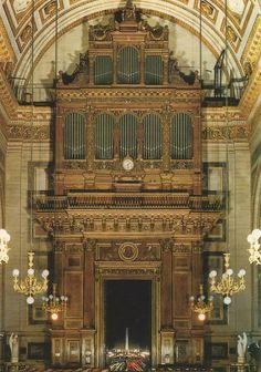 The organ at Church of La Madeleine, built by Aristide Cavaillé-Coll in 1846. Saint-Saëns performed on this organ over a century ago.