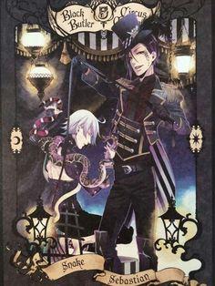Kuroshitsuji book of circus - Sebastian & Snake