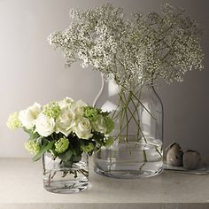 Pablo Glass Vase - Small | The White Company