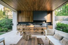 Pergola Ideas For Patio Outdoor Living Rooms, Outdoor Dining, Outdoor Spaces, Outdoor Decor, Outdoor Pergola, Backyard Patio, Pergola Roof, Pergola Kits, Pergola Ideas