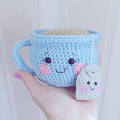 This cute crochet cow amigurumi is super soft and huggable! Create a friendly crochet cow using our step-by-step Cuddle Me Cow Amigurumi Pattern. Crochet Diy, Crochet Food, Crochet Patterns Amigurumi, Crochet Gifts, Crochet Dolls, Knitting Patterns, Kawaii Crochet, Crochet Cushion Pattern, Crochet Pincushion