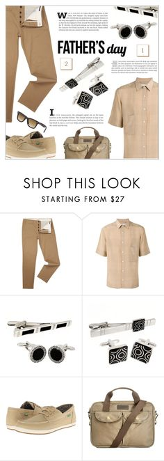"""""""Father's Day Giftguide"""" by shambala-379 ❤ liked on Polyvore featuring Jack & Jones, Lemaire, sanuk, Barbour, Ray-Ban, men's fashion and menswear"""