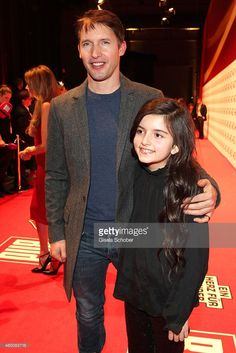 James Blunt (L) attends the Ein Herz fuer Kinder Gala 2014 at Tempelhof Airport on December 6, 2014 in Berlin, Germany.