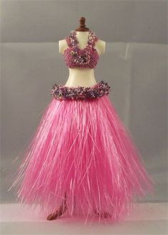 Pink hula skirt with matching top .. Ikle Company - The Ballet & Costume Workshop.