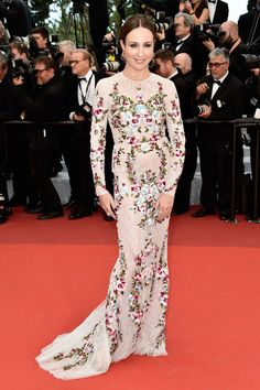 "French actress Elsa Zylberstein attends the ""Money Monster"" premiere during the 69th annual Cannes Film Festival at the Palais des Festivals on May 12, 2016 in Cannes, France."