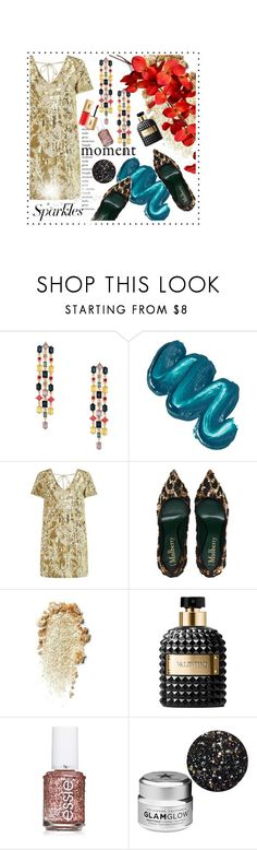 """#PolyPresents: Sparkly Beauty"" by pinkdream235 ❤ liked on Polyvore featuring Sole Society, Mermaid Salon, Miss Selfridge, Valentino, Essie, GlamGlow, Yves Saint Laurent, contestentry and polyPresents"