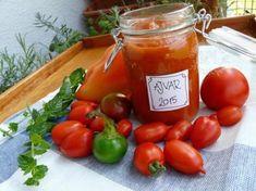 Ajvar , Zavárame, recept | Naničmama.sk Korn, Pesto, Spices, Food And Drink, Canning, Vegetables, Pump, Spice, Vegetable Recipes