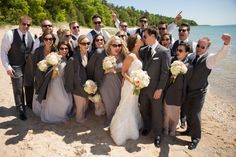 Wedding Flowers by Custom Creations in Bellaire, Northern Michigan photo by Paul Retherford Wedding Photography