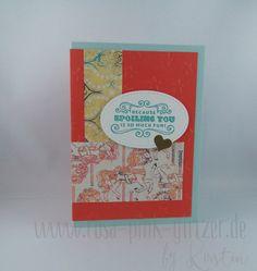 www.rosa-pink-glitzer.de: Karussellkarte mit Carousel Birthday 2