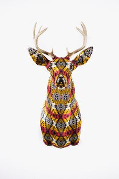 Benny Gold x Faraway Lovely x Pendleton Buckhead.  Deer Mounts handrafted by artist Chase Halland.