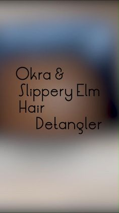 Slippery Elm and okra contain mucilage that adds slip to the hair making it easy to detangle. It is an ayurvedic herb which helps to promote strong and healthy hair. Use this DIY herbal hair detangler on naturally curly / coily hair to achieve softer and smoother hair DIY hair gel, DIY gel for curly hair, DIY hair gel for all hair types, grow hair, coarse hair treatment, itchy scalp remedy for black hair, deep conditioner, hair diy, homemade, DIY hair treatment