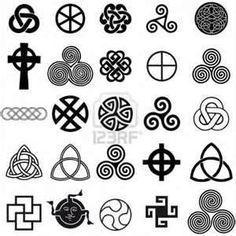 Conjunto De Símbolos Celtas Iconos Vectoriales Diseño