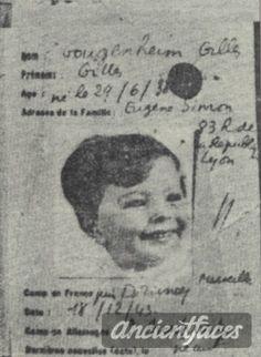 Giles Gougenheim Birth year : 1938  Gender : male child  Nationality : French  Background : Jewish  Residence :  Lyon, Rhone - Alps France  Death : December 19, 1943  Cause : Murdered in Auschwitz ( buried in Auschwitz death camp )  Age : 5 years