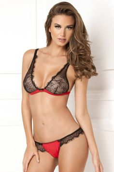 4567bb7d3 René Rofé Sexy Spellbound Lace Bra and Thong Set. Cast your spell in this  magical