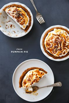 S'mores Pumpkin Pie - A toasted twist on a Thanksgiving favorite.