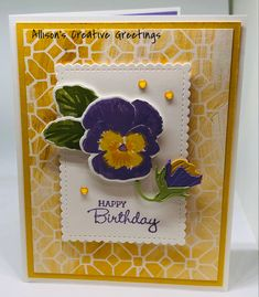Stampin Up Catalog, Die Cut Cards, Stamping Up Cards, Quick Cards, Altenew, Art Floral, Flower Cards, Creative Crafts, Greeting Cards Handmade