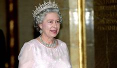 May 1993: Queen Elizabeth II at the state banquet at Budapest's Parliament during her state visit