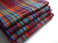 Colors - handwoven towels Newest towels from the loom. A waffle weave structure with lots and lots of colors.